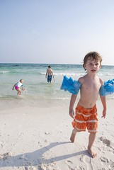 Choose Your Own Adventure (Mutual_Friend) Tags: ocean family boy vacation man beach water girl mexico seaside sand dad gulf arm florida sister brother fl float floaties floats floatys