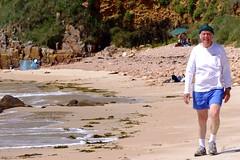 Walking on Beauport Beach