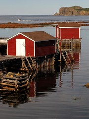 Two red flakes [fish houses] (Mysophie08) Tags: canada newfoundland twillingate bigmomma gamewinner challengeyouwinner thechallengefactory herowinner pregamesweepwinner