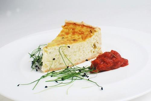 Basel-style Onion Tart with Mesclun Salad