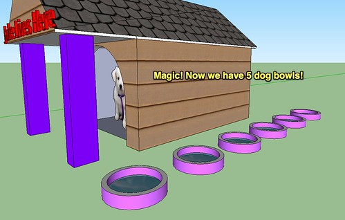 Magic! Now we have 5 dog bowls!