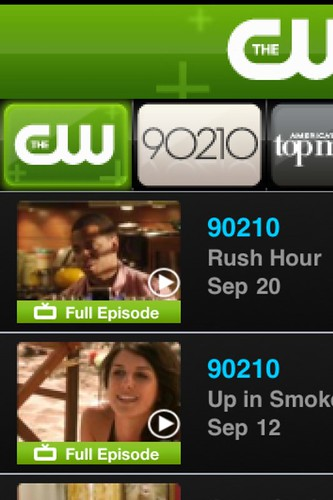 90210 full episodes on my iPhone.  I love the future!