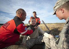 Installing C collar (U.S. Army Europe Images) Tags: canada jump military poland parachute multinational usarmyeurope bumgardner 173rdairbornebrigadecombatteam dragon11