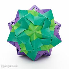Sonobe (Maria Sinayskaya) Tags: geometric origami harmony modularorigami kusudama sonobe mariasinayskaya jongienara