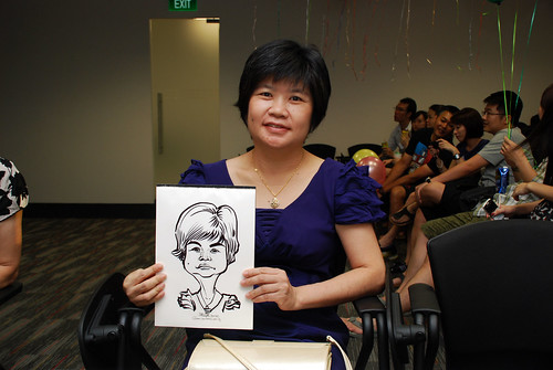 caricature live sketching for iFast Financial Pte Ltd - 7
