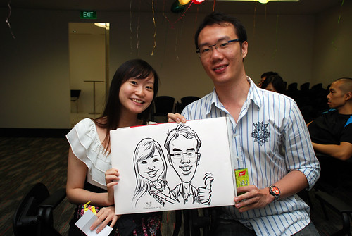caricature live sketching for iFast Financial Pte Ltd - 12