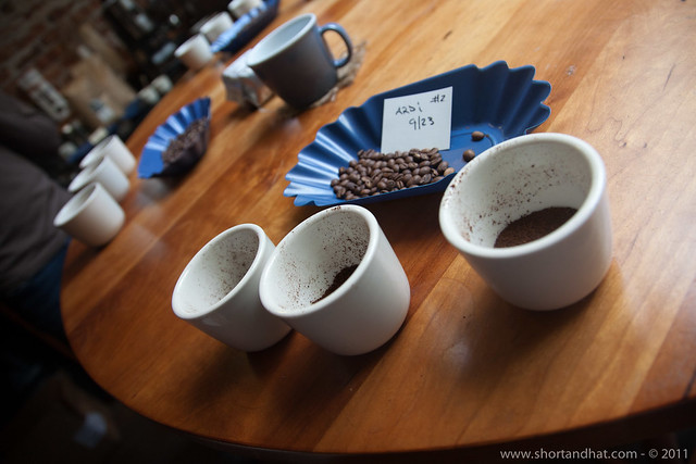 Coffee cupping at Victrola Coffee