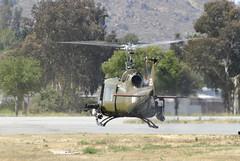UH-1B Huey (linda m bell) Tags: california airport aircraft airshow huey helicopter hemet 2011 uh1b hemetryan