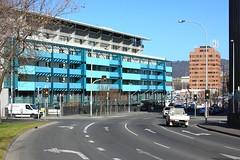 Is this Hobart's ugliest building (Trains In Tasmania) Tags: australia ugly tasmania hobart constitutiondock daveystreet ugliestbuilding hobartsuglistbuilding