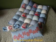 Para baby Guilherme - For baby Guilherme -  Hand apliqu work - (baronesinha100@gmail.com) (baronesinha_baronesinha) Tags: azul quilt letters fluffy pillow infantil patchwork letras aplicao apliqu almofadinha