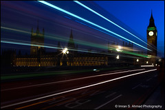 Double Decker trail (imran*) Tags: uk england london canon bigben 7d gb westminsterbridge londonbridges traffictrails londonlandmarks 2011 londonbuildings canon247028l canon7d canon24mm70mm28l canon24mm7028l