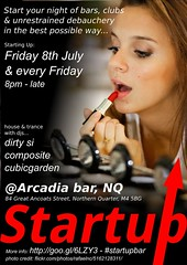 Startup flyer 1 at Arcadia Bar