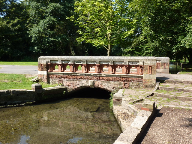 Terracotta bridge in Beddington Park