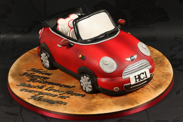 red cake 3d convertible mini minicooperconvertible kingfishercakes