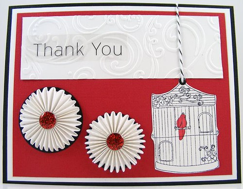 Accordian Floral Thank You Card