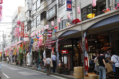 Kappabashi Street during Tanabata Festival