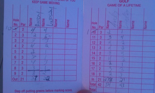 Scorecard from the Puff 'n Putt, Montauk