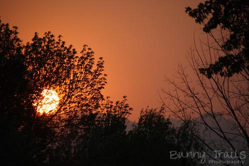 156-smoky sunset
