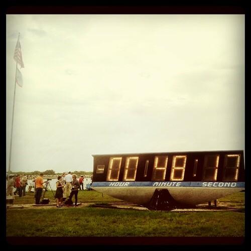Countdown clock. #sts135 #atlantis