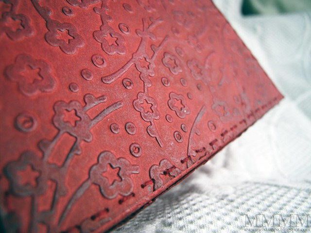 leathery crayon rubbed pressure embossing