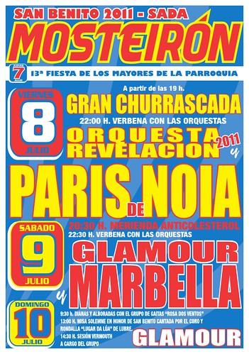 Sada 2011 - Festas de San Bieito en Mosteirón - cartel