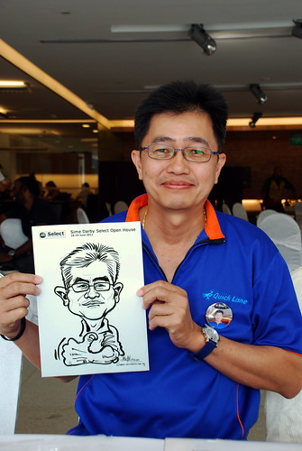 Caricature live sketching for Sime Darby Select Open House Day 2 - 32