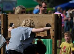 preparing to get wet (njw28) Tags: show boy summer girl barley shirt neck short torn locked wrists 2011 pillory