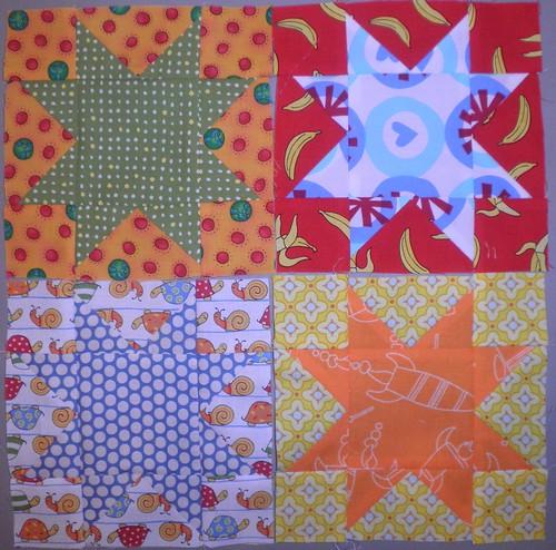 "6"" Sawtooth Stars by HandmadeRetro"