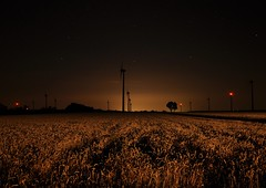 windmills (stefanie.k) Tags: longexposure windmill field night dark stars landscape austria golden scenery heaven burgenland