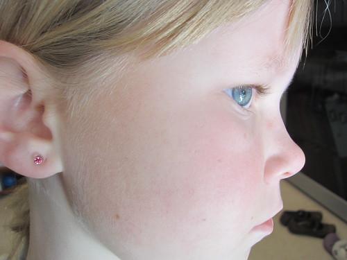 Ears pierced (again)