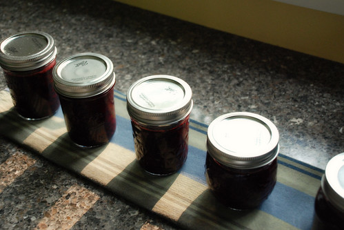 Black raspberry peach preserves