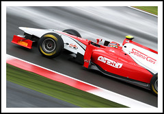 GP2 Racing (Explore FP) (Fazer44) Tags: red car speed canon track fast racing silverstone eos7d
