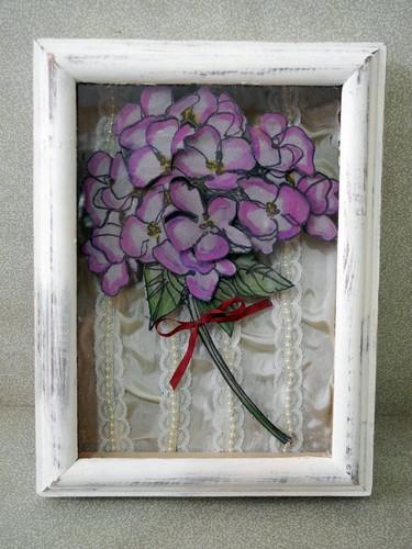 Hydrangea Shadow Box Frame