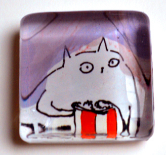 Popcorn cat magnet!