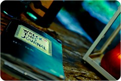My [Wreck This Journal] (  Pounkie  ) Tags: book candle details journal sketchbook soire soir agenda makingof bougie pnombre dcor cahier wtj wreckthisjournal pounkie mywreckthisjournal shootingdu030711
