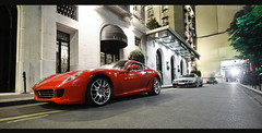 Ferrari 599 GTB & SL65 AMG Black Series (Lambo8) Tags: horse black france car mercedes benz photo hp nikon italia power bs d s ferrari sl v german porsche mercedesbenz series kuwait 12 af gt nikkor lamborghini supercar v8 ch 65 amg sl65 gtb v12 arabs biturbo 599 fiorano afd d80 worldcars