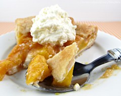 Peaches and Cream Tart (CinnamonKitchn) Tags: food fruit pies peaches recipes galette bakedgoods culinaryphotography