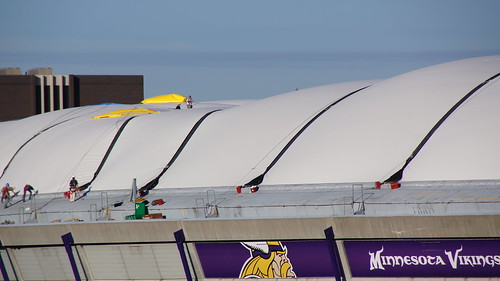 Metrodome Roof Inflated