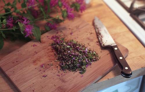 chopped monarda