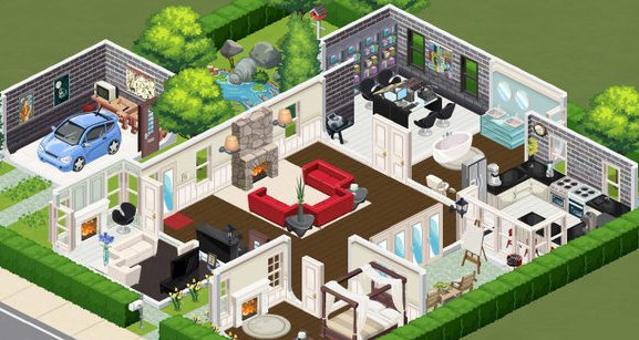 The Sims Social Build a House Beta