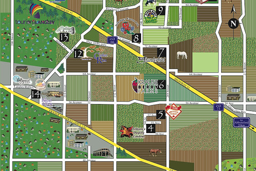 Part of the Langley Circle Farm Tour Map