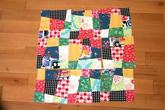 Wonky 9-patch blocks (kristigeraci) Tags: quilt quilting blocks wonky 9patch averbforkeepingwarm thepressedseam