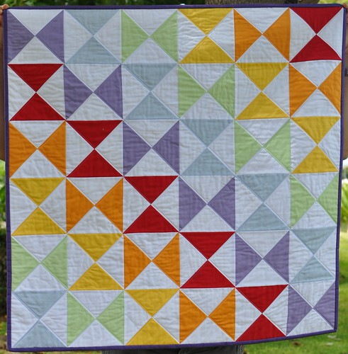 crayon box baby quilt
