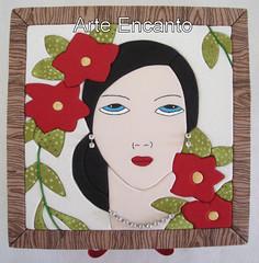 Caixa Dama (ARTE ENCANTO - III) Tags: bijuteria caixa porta patchwork biju mousse tecido bijouteria embutido incrust cartom