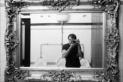 framed self-portrait (gorbot.) Tags: blackandwhite bw selfportrait me bar edinburgh toilet reflected f19 voodoorooms leicam8 digitalrangefinder ltmmount voigtlander28mmultronf19