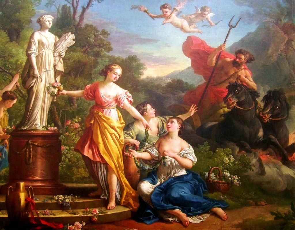 Joseph Marie Vien, L'enlèvement de Proserpine, (1762)