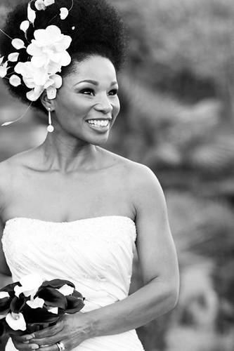 Natural Hair Accessories White Bridal Headband