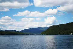 Lake Placid (Lida Rose) Tags: blue lake mountains clouds adirondacks newyorkstate lakeplacid whitefacemountain northernnewyorkstate