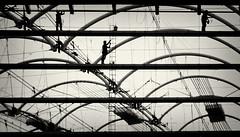Working at BC Place #3 (. Jianwei .) Tags: street city urban silhouette vancouver construction geometry candid streetlife 365 fragment bcplace  a500 jianwei  kemily mygearandme mygearandmepremium ringexcellence tyeechoice 2013syzy