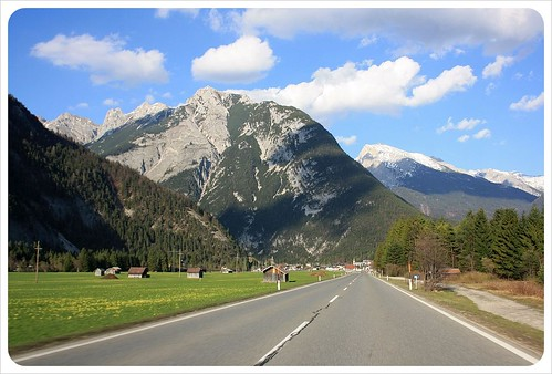 Driving along the German Alps